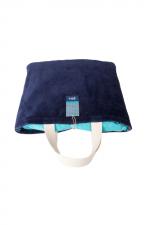 Navy beach towel bag 2