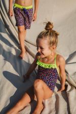 girl wearing a one-piece swimsuit graffiti