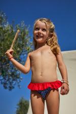 Petite fille portant une culotte de bain Navy Kangaroos