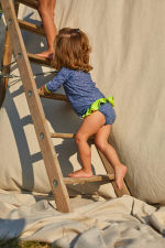 baby girl wearing a Sunny Atolls bikini bottom