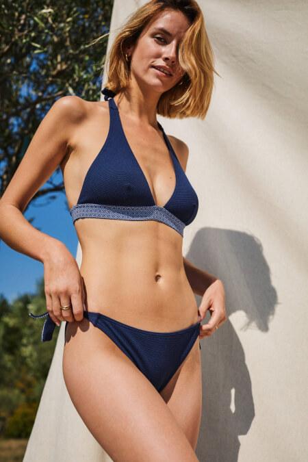 two-piece swimsuit navy azulejos