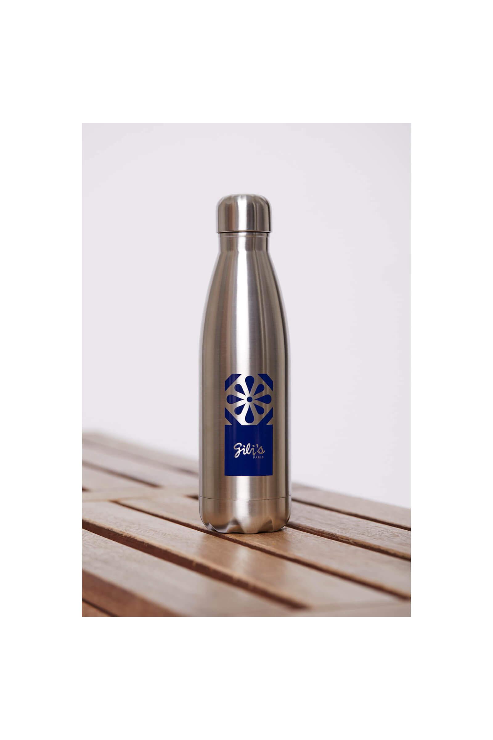 Reusable stainless steel bottle