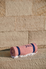 beach fouta terracotta