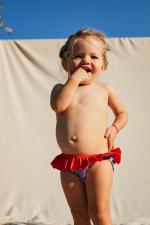 Petite fille portant une culotte de bain Pink Reef