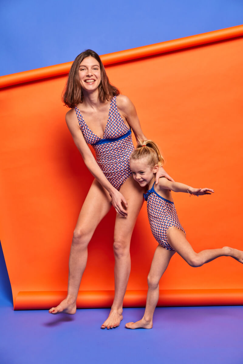 girl wearing a one-piece swimsuit Lucy in the Sky