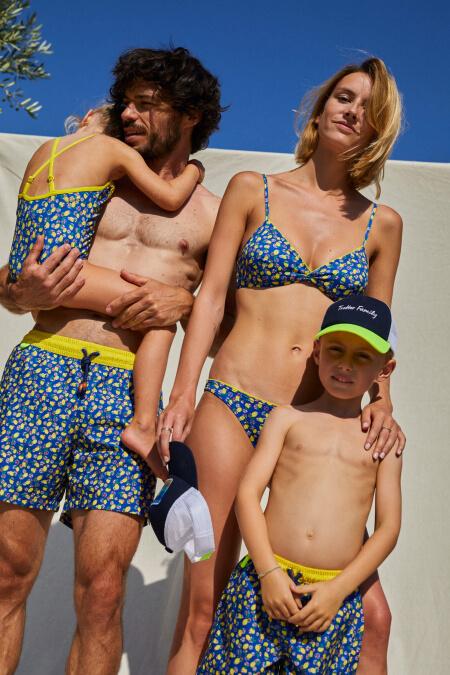 woman wearing a two-piece swimsuit Lemonade