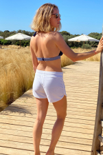 White terry cloth short